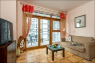 Warsaw Vacation Apartment Rentals, #105eWarsaw: 1 bedroom, 1 bath, sleeps 4